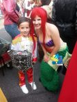 He for some reason wanted a photo with Ariel too :)